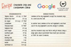 Recette des cookies Google